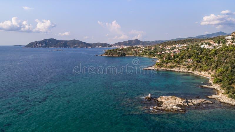 Coast of the town Nea Iraklitsa, Greece royalty free stock photo