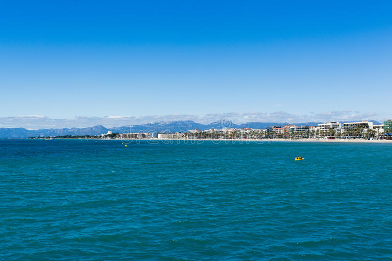Coast view of Salou in Catalonia, Spain. royalty free stock photos