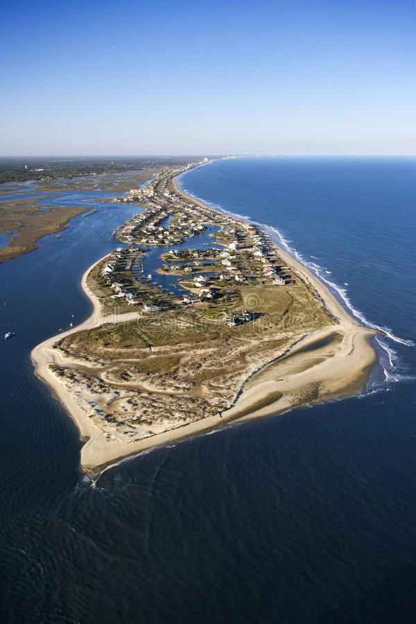 Coastal aerial. royalty free stock photo