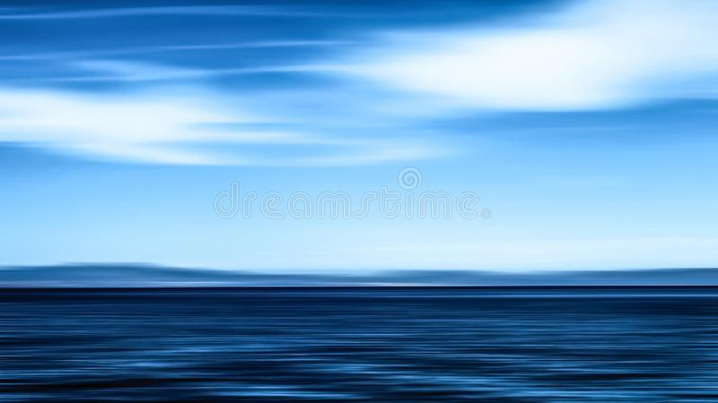 Abstract ocean wall decor background, long exposure view of dreamy mediterranean sea coast. Coastal art, holiday destination and luxury travel concept - Abstract stock photo