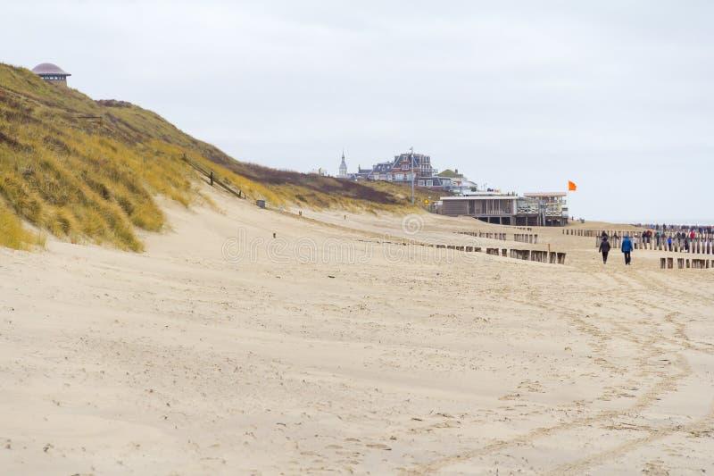 Coastal beach scenery. At the North Sea near Domburg in Walcheren in the dutch province of Zeeland stock image