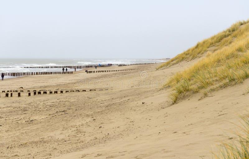 Coastal beach scenery. At the North Sea near Domburg in Walcheren in the dutch province of Zeeland stock photo