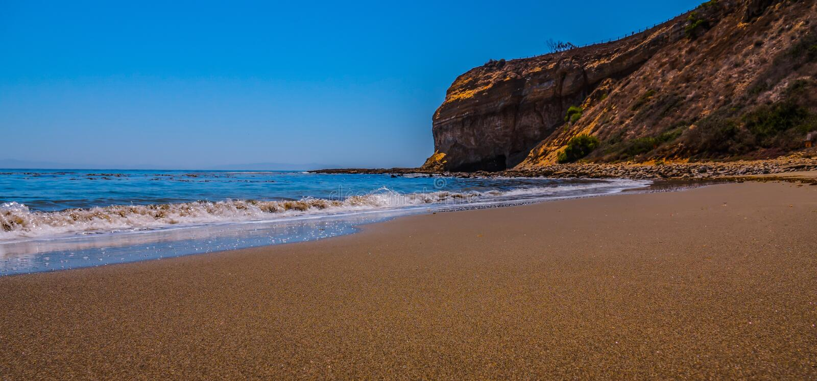 Coastal and beach scenes taken throughout Southern California. Coastal ocean scenes of beaches at various elevations, ranging from Palos Verdes, Hermosa Beach stock image
