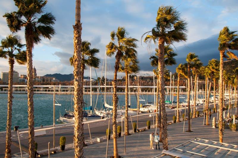 Coastal city of Malaga, Costa del Sol, Andalucia, Spain royalty free stock photos