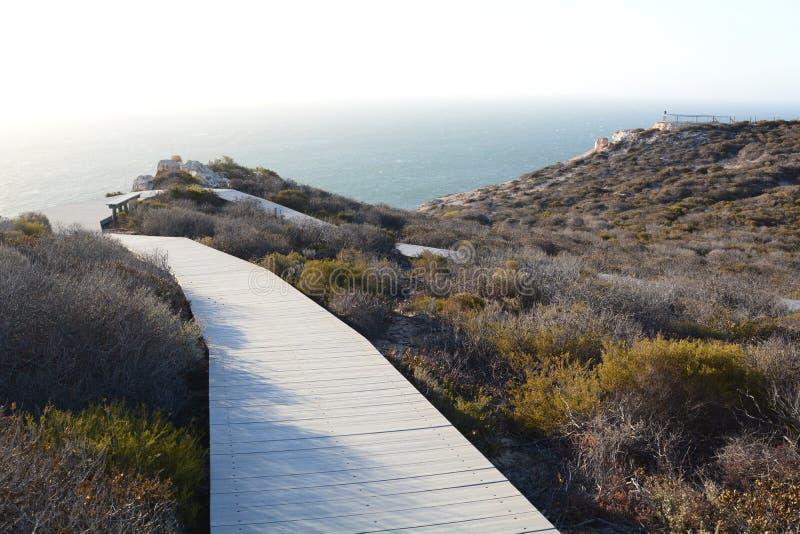 Coastal cliffs walk. Kalbarri National Park. Western Australia. Australia stock photo