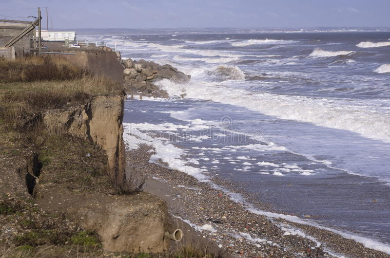 Coastal Erosion East Yorkshire England stock photography