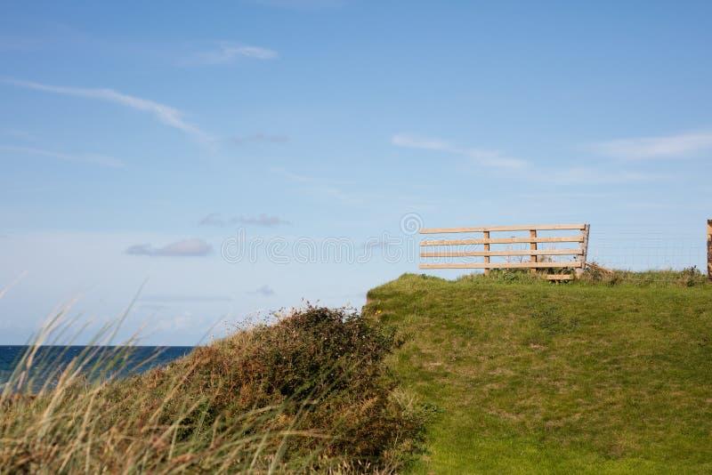 Coastal fence Isle of Man. Coastal fence on the sand dunes Isle of Man British Isles royalty free stock image
