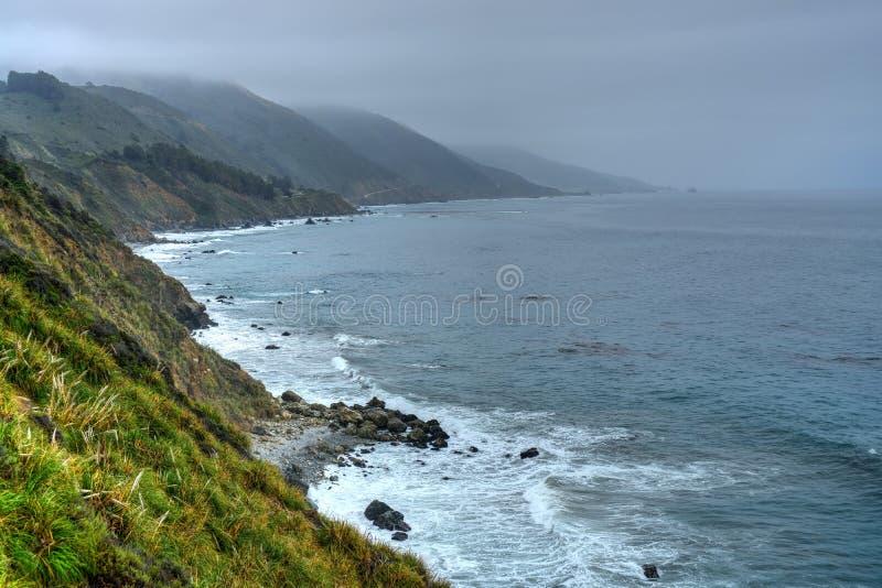 Coastal Fog Big Sur California royalty free stock photography