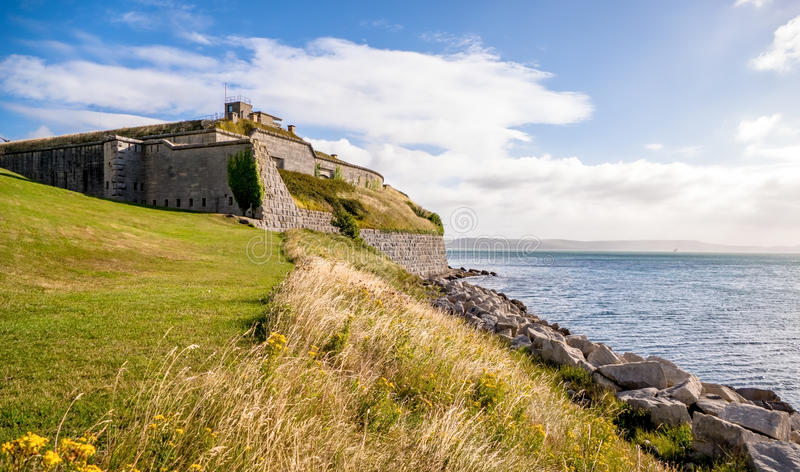 Coastal Fortress. This coastal fortress is the Nothe Fort in Weymouth. Built 1872 to protect Portland Harbour. In the second world war, it served as a base for royalty free stock photos