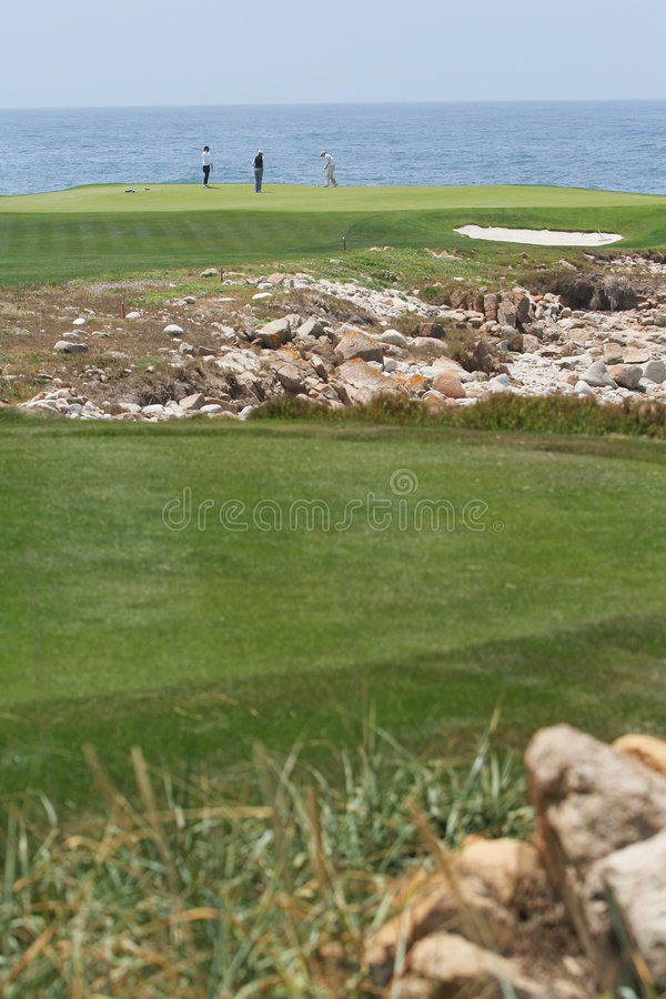 Coastal Golfers stock images