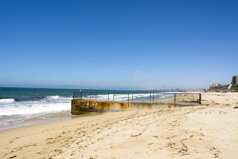 Coastal groin royalty free stock photo
