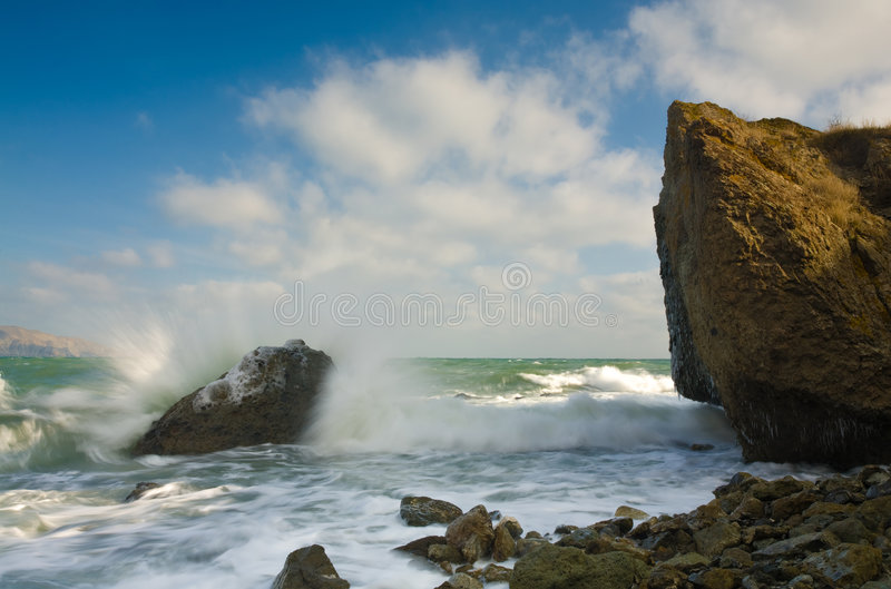 Coastal landscape stock photography