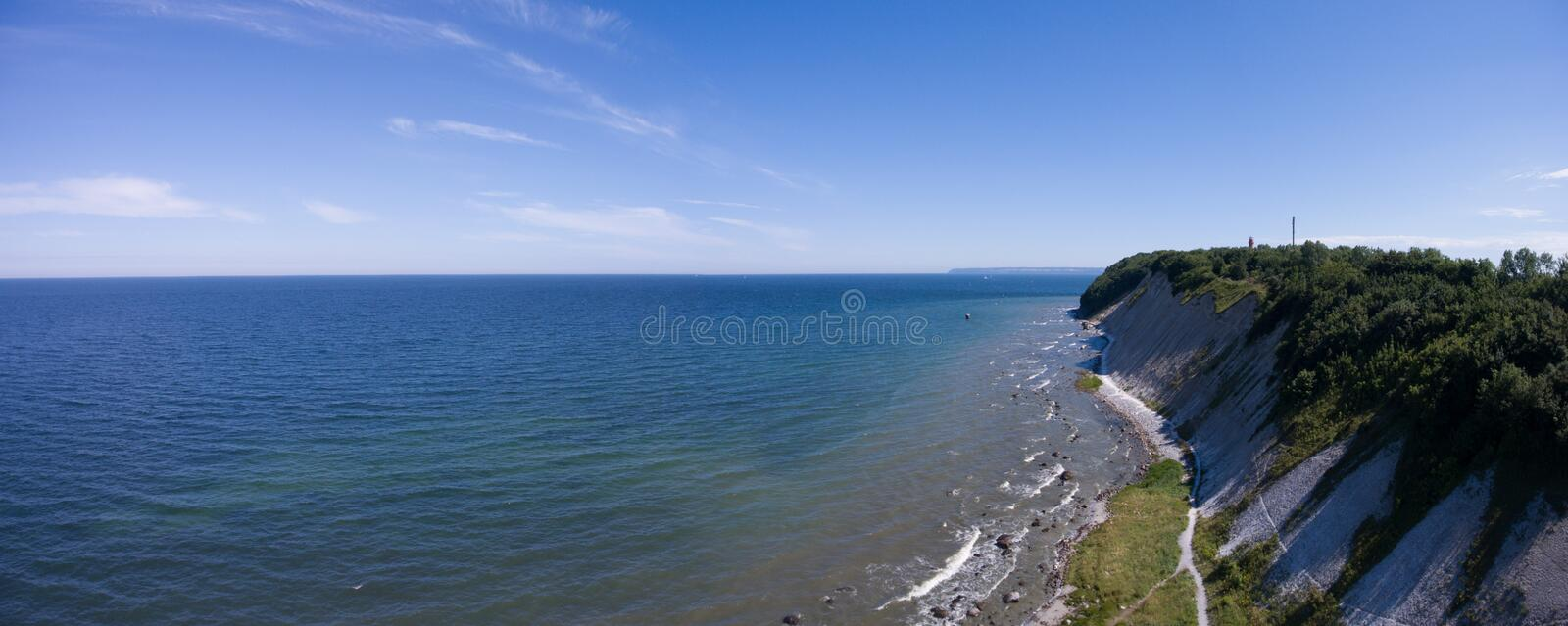 Coastal Landscape at Kap Arkona on Ruegen Island baltic Sea royalty free stock photos