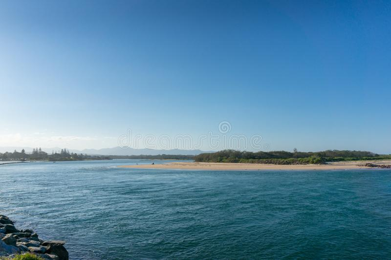 Coastal landscape with mangrove forest. Urunga, Australia. Coastal landscape with mangrove forest island. Urunga, Australia royalty free stock photos