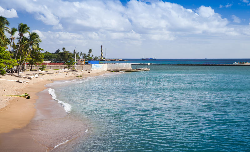 Coastal landscape of Santo Domingo. Capital city of Dominican Republic stock images