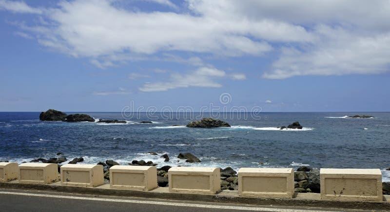 Coastal landscape in taganaga on tenerife. Coastal landscpae in taganaga on tenerife island in summer royalty free stock photography