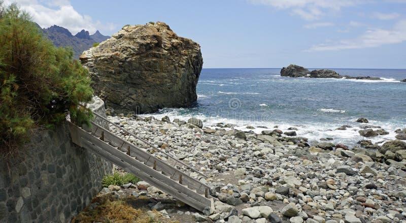 Coastal landscape in taganaga on tenerife. Coastal landscpae in taganaga on tenerife island in summer stock photos