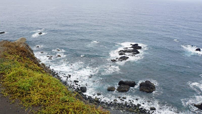 Coastal landscape in taganaga on tenerife. Coastal landscpae in taganaga on tenerife island in summer royalty free stock images