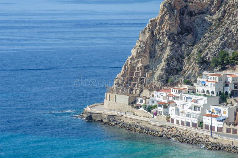Coastal Living at Benidorm, Spain stock photos