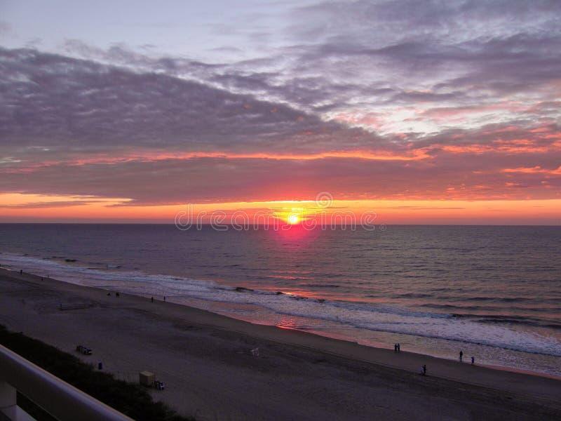 Sunrise on the Atlantic Ocean in Myrtle Beach South Carolina royalty free stock image