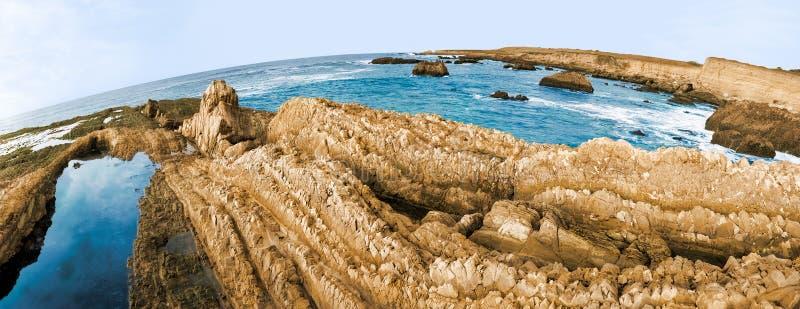 Coastal Panorama royalty free stock photos
