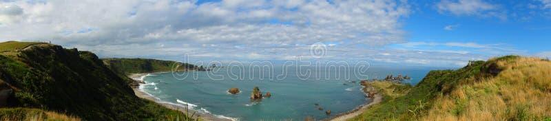 Coastal Panoramic. With cliffs lining coastline royalty free stock photo
