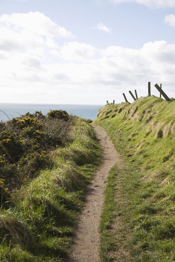 Download Coastal path stock photo. Image of landscape, path, activity - 30850044