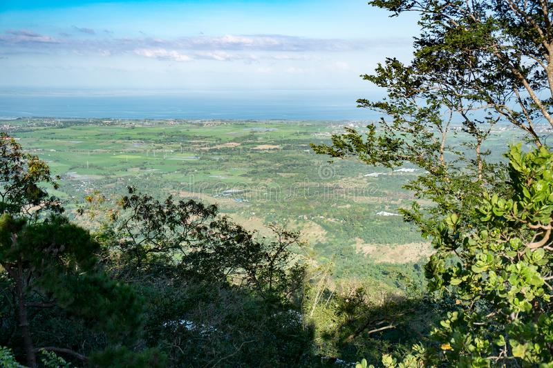Coastal Plains. Beautiful View of the Coastal Plains from the top of Mount Samat royalty free stock images