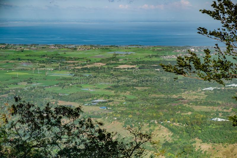 Coastal Plains. Beautiful View of the Coastal Plains from the top of Mount Samat royalty free stock image