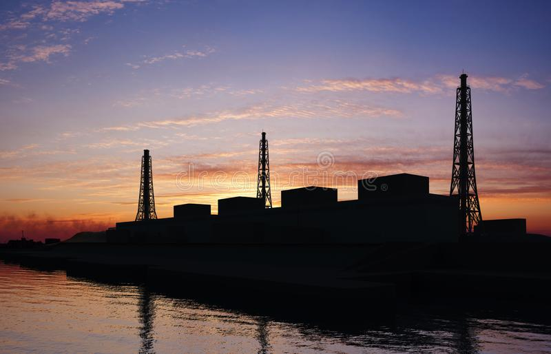 Coastal power station royalty free stock photo