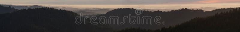 Coastal Range of California, Mendocino County. Mendocino County`s famous Coastal Range and thick wild forests, California, USA royalty free stock photo