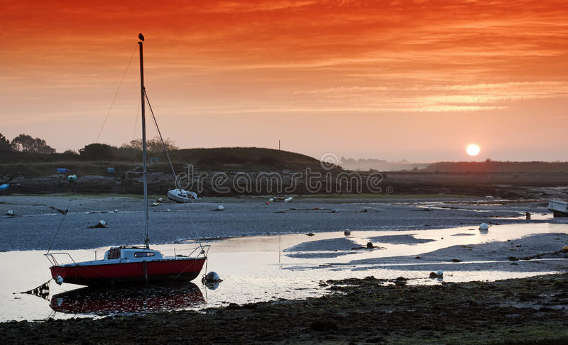 Coastal river in Brittany. Le Ster river in finistere coast royalty free stock image
