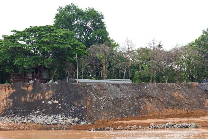 Coastal rivers, soil erosion. stock image