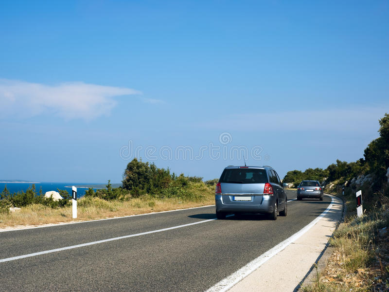 Coastal Road. And Sea in Summer royalty free stock images