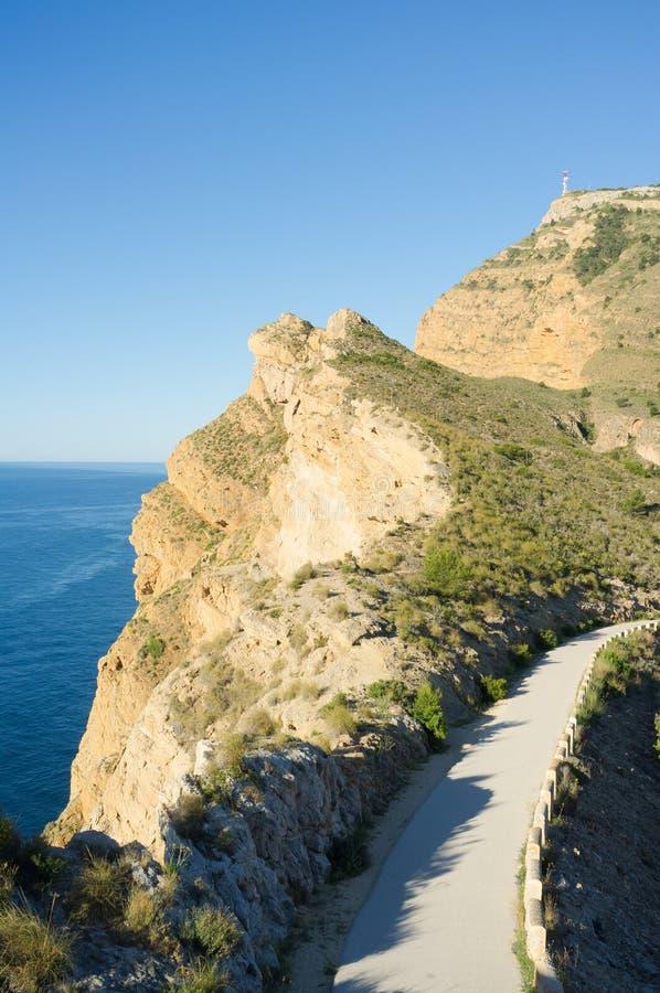 Download Coastal road stock image. Image of helada, rock, mediterranean - 24878855