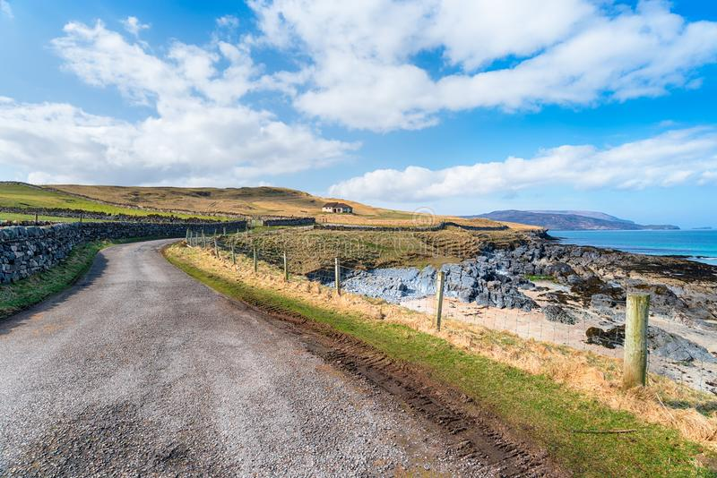 Coastal Road at Durness stock photo