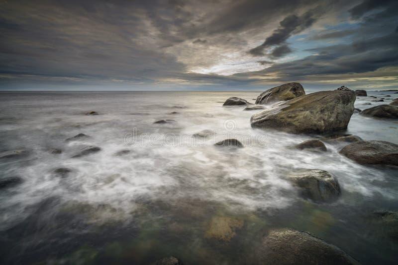 Coastal scene in Eggum, Lofoten Islands. Some of Norways most scenic wilderness royalty free stock photos