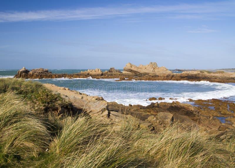 Coastal scene on guernsey,. Coastal scene guernsey, Channel Islands stock image