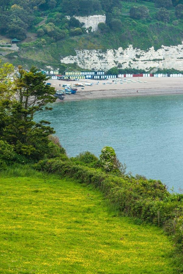 Coastal scenery at Beer. On the Jurassic coast in Devon. England. UK royalty free stock photo