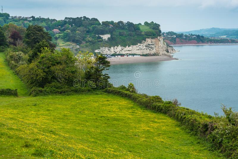 Coastal scenery at Beer. On the Jurassic coast in Devon. England. UK stock photo