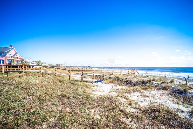 Coastal scenes around folly beach south carolina royalty free stock images