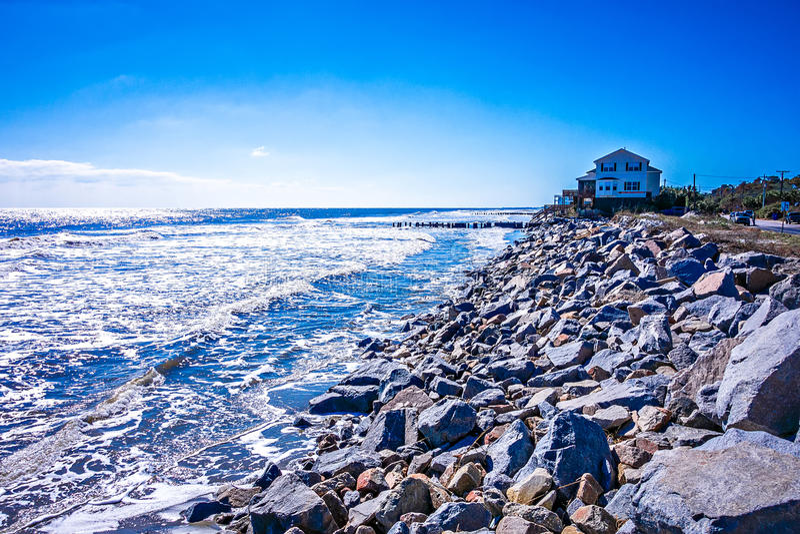 Coastal scenes around folly beach south carolina stock photo