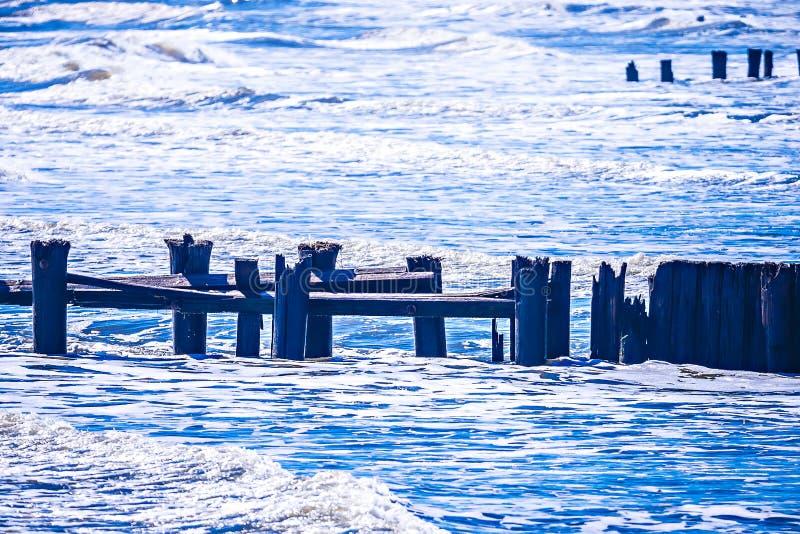 Coastal scenes around folly beach south carolina stock images