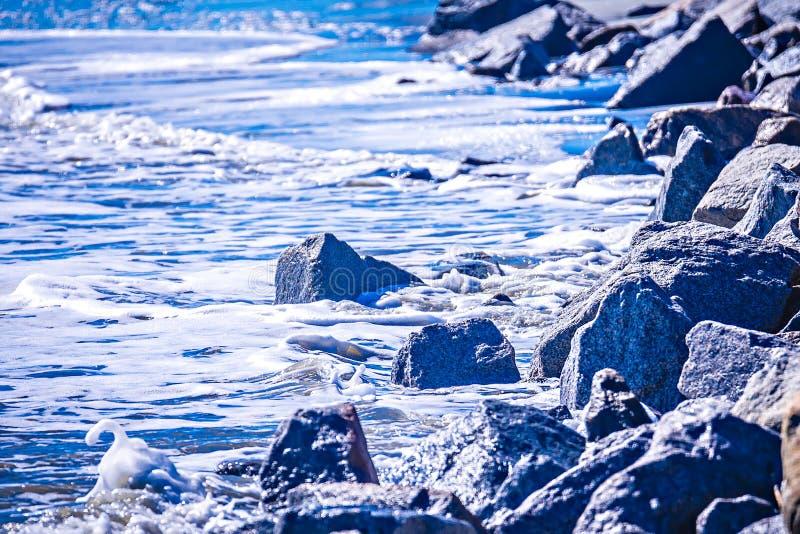 Coastal scenes around folly beach south carolina royalty free stock photos