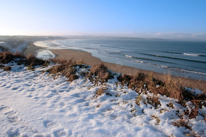 Download Coastal Snow Covered Golf Course Stock Photo - Image: 14053916