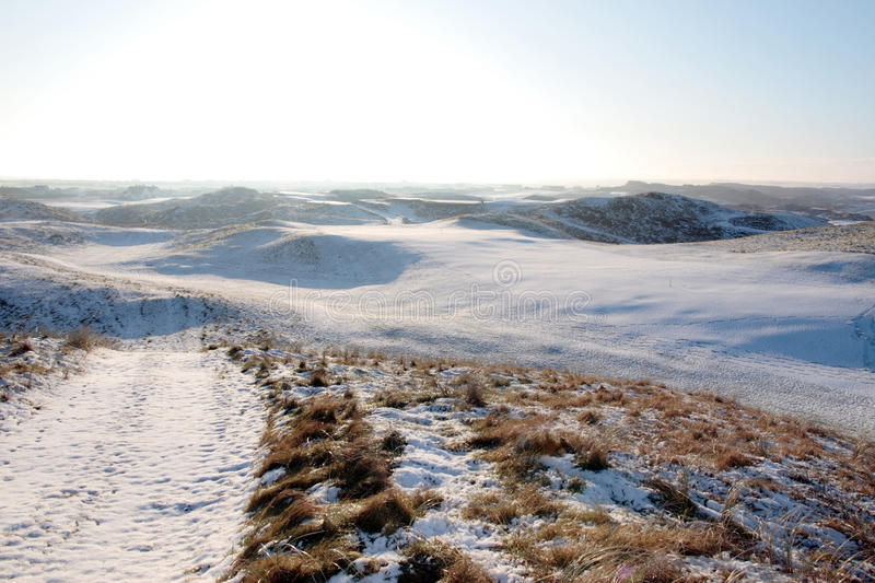 Download Coastal Snow Covered Links Golf Course Stock Photo - Image: 14053940