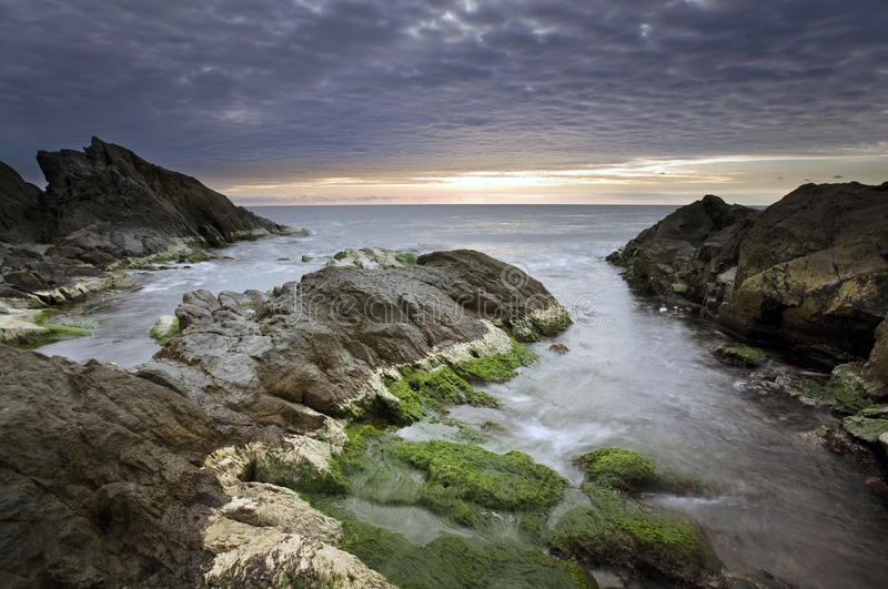 Download Coastal sunrise stock photo. Image of rock, blue, ocean - 23258490