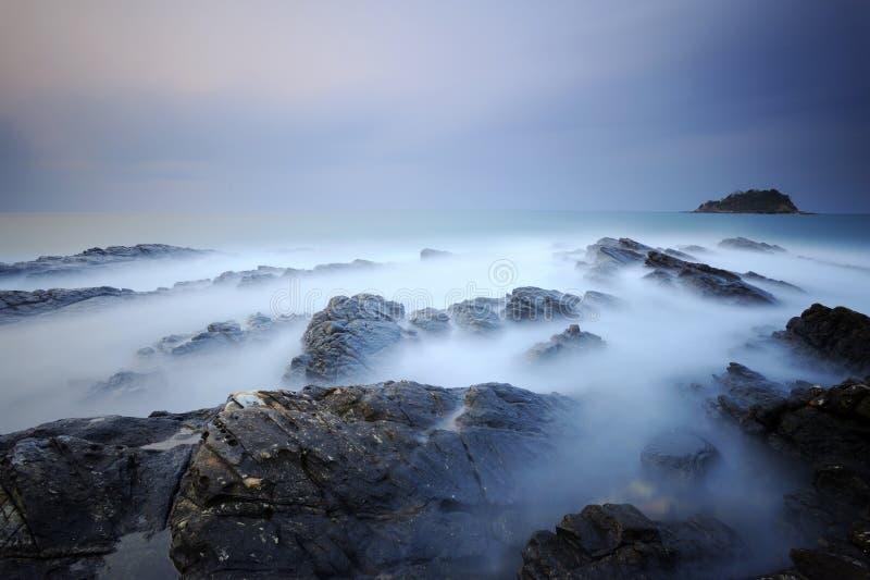 Download Coastal stock image. Image of stone, coast, wave, dusk - 39644345