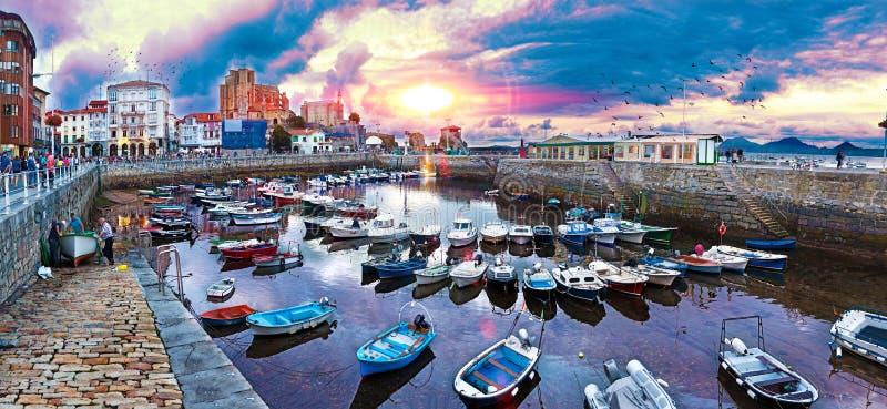 Coastal towns of Spain.Castro Urdiales.Cantabria. royalty free stock photos