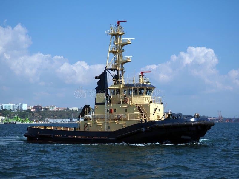 Coastal Tug Boat Underway imagen de archivo libre de regalías